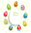 Festive easter background with eggs