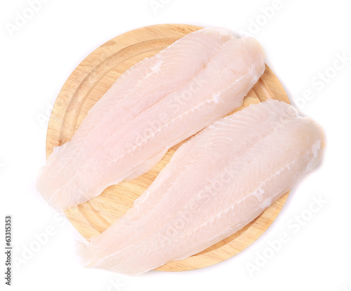 Fresh fillet of pangasius