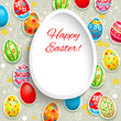 Happy easter frame with eggs