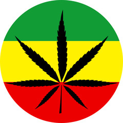 Rasta colors marijuana