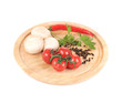 Vegetables on wooden platter