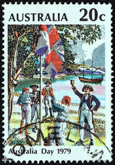 Raising the Flag, Sydney Cove, 26 January 1788 (Australia 1979)