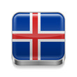 Metal  icon of Iceland