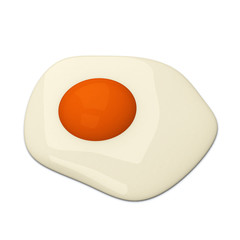 Fried egg, 3d