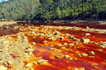 Agua contaminada, Minas de Riotinto, Huelva, España