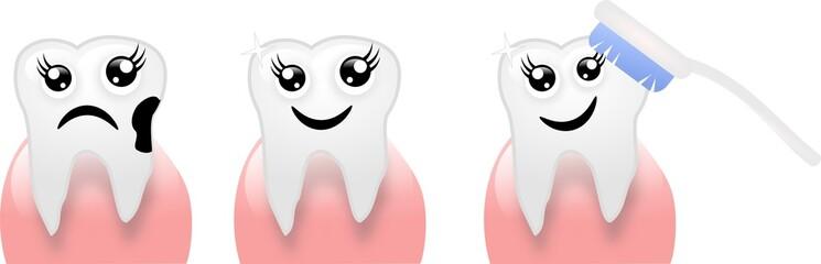 Three tooths