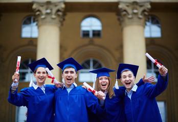 Graduation excitement