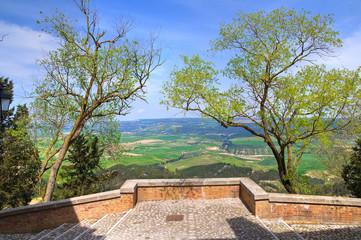 Panoramic view of Montescaglioso. Basilicata. Italy.