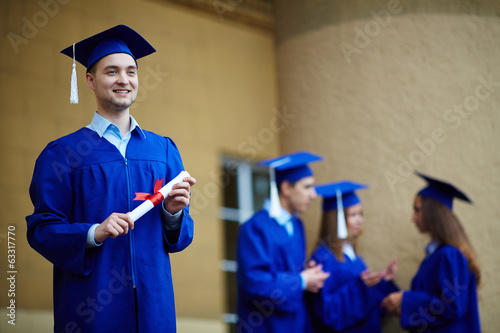 Guy with certificate