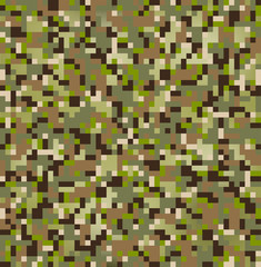 seamless digital multi terrain camouflage pattern