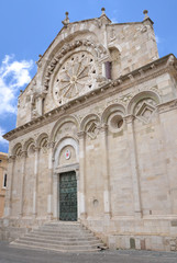 Troia Cathedral in Troia town, Apulia, Italy