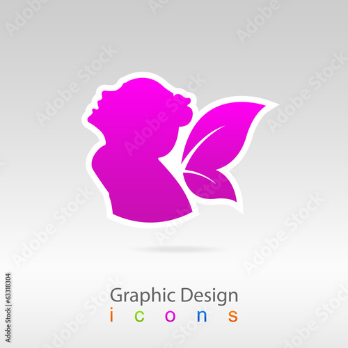 graphics design icon health logo web