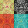 Set of textures in trendy colors