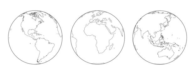 Globes Outline