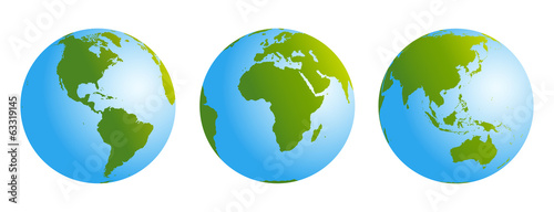 Globes Gradient Blue Green