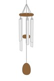 cartoon image of wind chimes poster