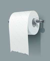 Toilet paper roll. Eps10 vector illustration