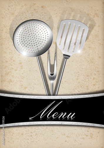 Menu Template - Old Paper and Metal