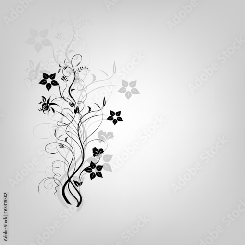 colored swirly background with splats and retro floral elements