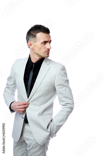 Portrait of a handsome businessman looking away