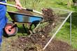 Kompostsieb mit Komposterde