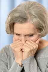 Senior sad woman