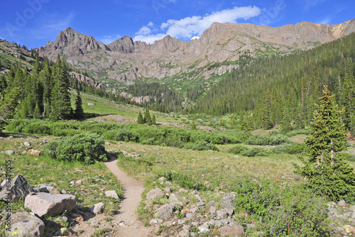 Hiking Trail in the Rocky Mountains, USA