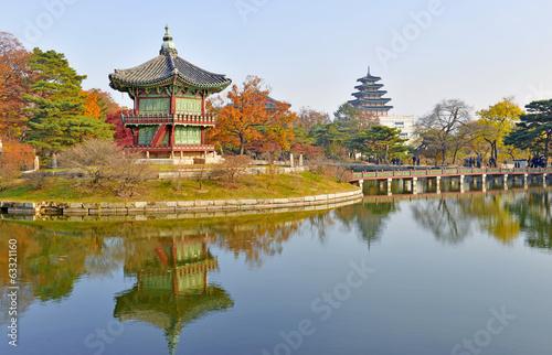 Poster Gyeongbokgung Palace, Seoul, South Korea