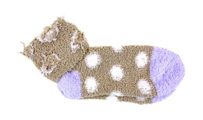Warm Cozy Polka Dot Socks Cuffs Turned Down