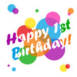 """""""HAPPY 1ST BIRTHDAY"""" CARD (first party celebration one year old)"""