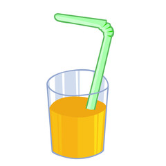 orange juice isolated illustration