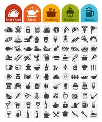 Food Icons bulk series - 100 icons