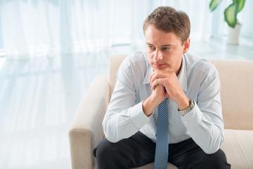 Pensive patient