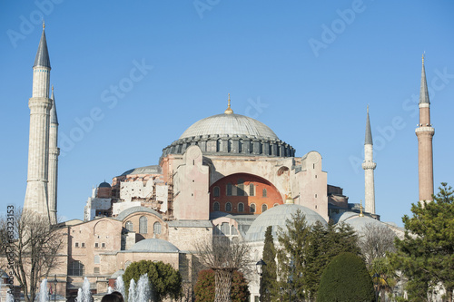 View of the Hagia Sophia in Istanbul Turkey