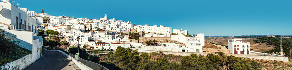 Panorama of Vejer de la Frontera. Costa de la Luz, Spain