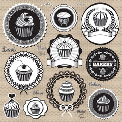 icons for  baking and bakery