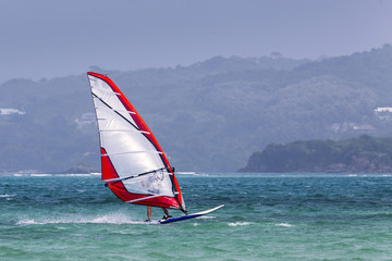 Windsurfing in the Caribbean
