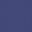 Vector white polka dots on blue background tile pattern