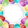 Seamless pattern with colorful Easter eggs