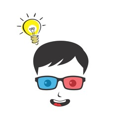 nerd guy cartoon