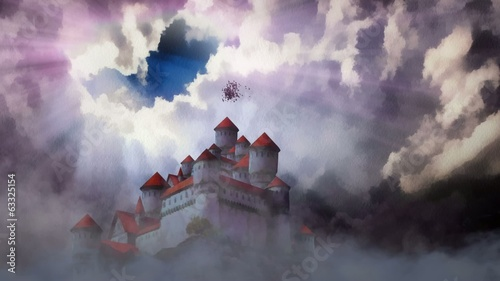 Castle above the clouds .