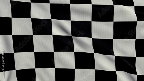 Black And White Chequered Flag looping
