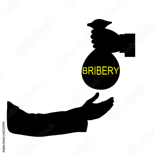 bribery black vector