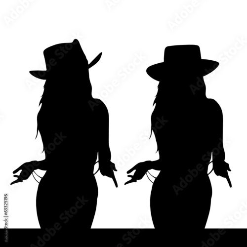 girl black silhouette vector