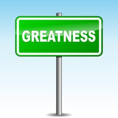 Vector greatness signpost