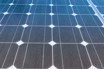 Solar Panels produce power, green energy concept