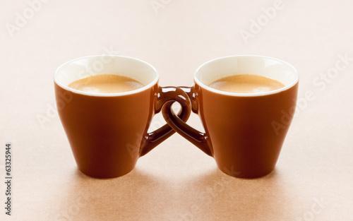 Poster Cafe tazzine di caffè