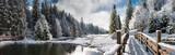 Панорама зимним утром в Карпатах - 63326147
