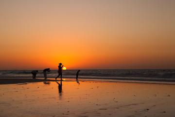 Sunset in the Persian Gulf in Dubai