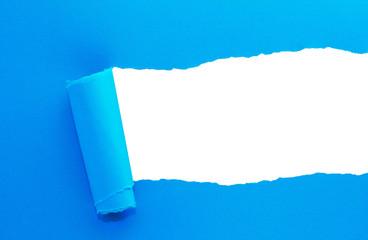 Papier eingerissen mit Platz für eigenen Text
